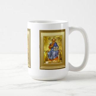 Ikon of Christ with a gospel book,  Orthodox Coffee Mug