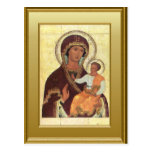 Ikon of the Virgin Mary and the child Jesus Postcard