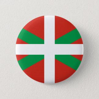 IKURRIÑA DRAPEAU BASQUE EUSKADI FLAG VASCA 6 CM ROUND BADGE