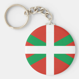 IKURRIÑA DRAPEAU BASQUE EUSKADI FLAG VASCA BASIC ROUND BUTTON KEY RING