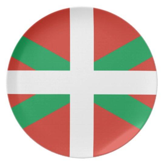 IKURRIÑA DRAPEAU BASQUE EUSKADI FLAG VASCA PLATE