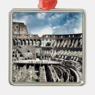 Il Colosseo I gave Rome Silver-Colored Square Decoration
