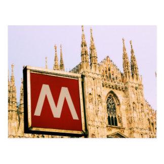 il Duomo via the Metro - Milano, Italy Postcard