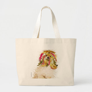 Il Love Lhasa apso Large Tote Bag