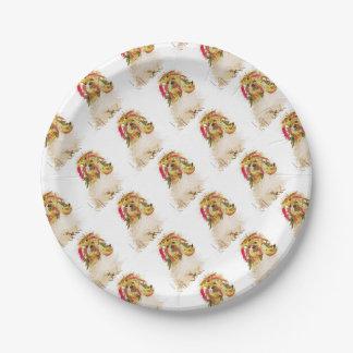 Il Love Lhasa apso Paper Plate