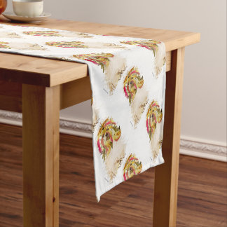 Il Love Lhasa apso Short Table Runner