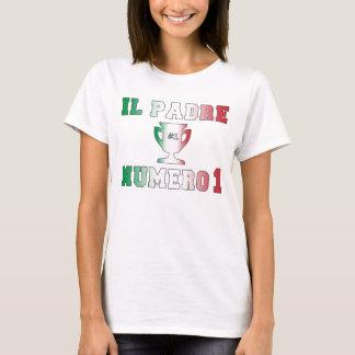 Il Padre Numero 1 #1 Dad in Italian Father's Day T-Shirt
