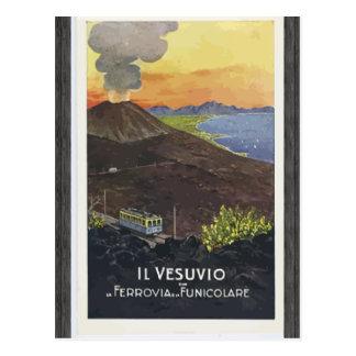 Il Vesuvio Ferrovia Funicolare, Vintage Postcard