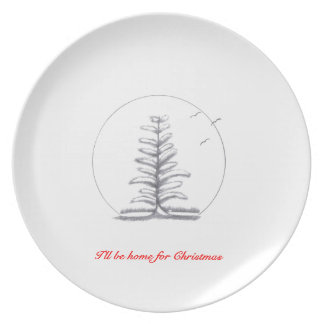 I'll be home for Christmas...Plate