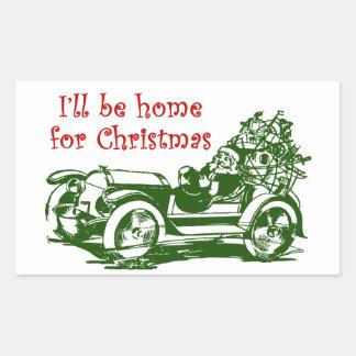 I'll Be Home For Christmas Rectangular Sticker