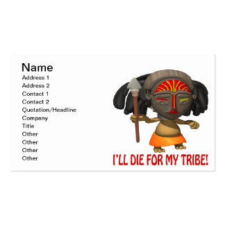 Ill Die For My Tribe Business Card Templates
