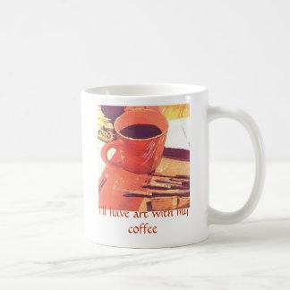 I'll have art with my coffee coffee mug