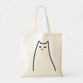 < Ill-humored cat >Sullen cat Budget Tote Bag