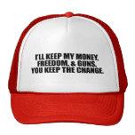 I'LL KEEP MY MONEY, FREEDOM, AND GUNS CAP