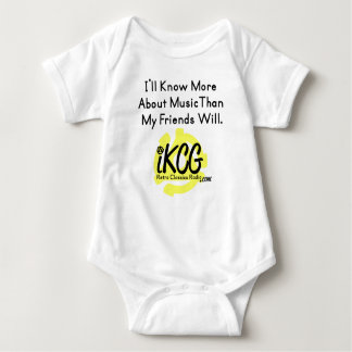 """I'll Know More..."" iKCG logowear for baby Baby Bodysuit"