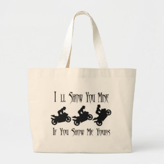 ill show you mine Extreme Stunts Canvas Bags