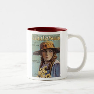 I'll Tell the World Vintage Songbook Cover Two-Tone Mug