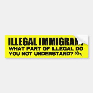 Illegal Immigrant Bumper Sticker
