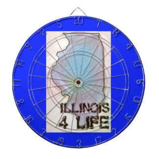 """Illinois 4 Life"" State Map Pride Design Dartboard"