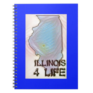 """Illinois 4 Life"" State Map Pride Design Notebook"