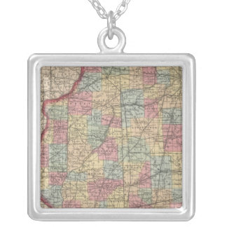 Illinois 7 silver plated necklace