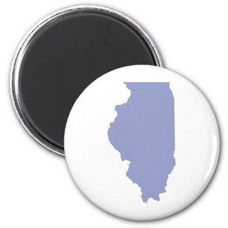 ILLINOIS a BLUE state 6 Cm Round Magnet