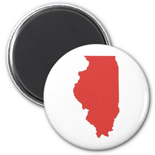 ILLINOIS - a RED State Fridge Magnets