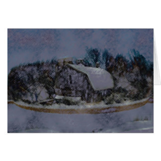 Illinois Barn Rock Wall Card