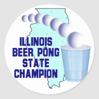 Illinois Beer Pong Stickers