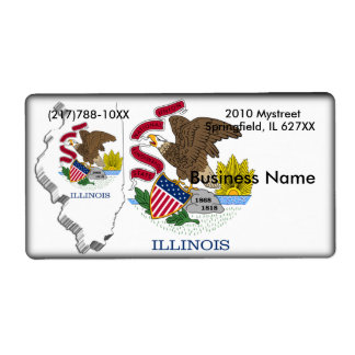 Illinois Business Label Shipping Label