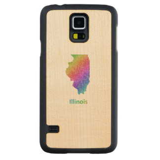 Illinois Carved Maple Galaxy S5 Case