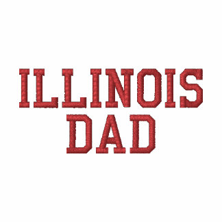 ILLINOIS  DAD EMBROIDERED POLO SHIRTS