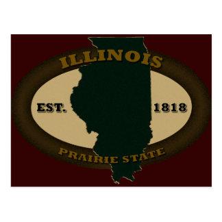 Illinois Est. 1818 Postcard