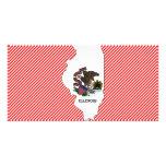 Illinois Flag Map Personalised Photo Card