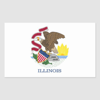 Illinois Flag Rectangular Sticker