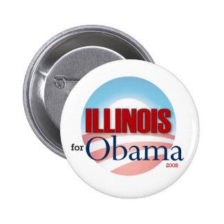 Illinois for Obama 6 Cm Round Badge
