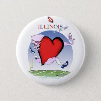 illinois head heart, tony fernandes 6 cm round badge