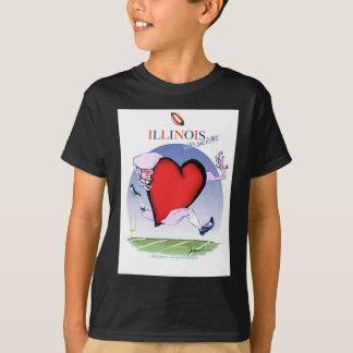illinois head heart, tony fernandes T-Shirt