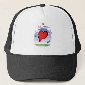 illinois head heart, tony fernandes trucker hat