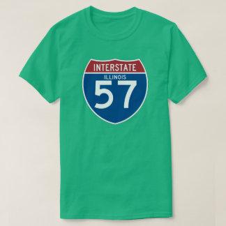 Illinois IL I-57 Interstate Highway Shield - T-Shirt