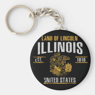Illinois Key Ring