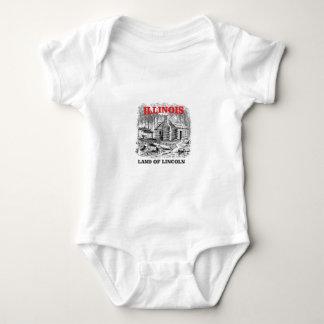 Illinois land of Lincoln Baby Bodysuit