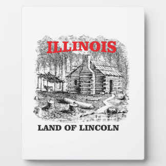 Illinois land of Lincoln Plaque