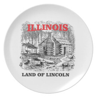 Illinois land of Lincoln Plate