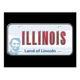 Illinois Land of Lincoln Postcard