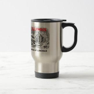 Illinois land of Lincoln Travel Mug
