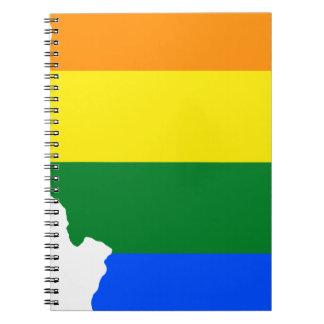 Illinois LGBT Flag Map Notebook
