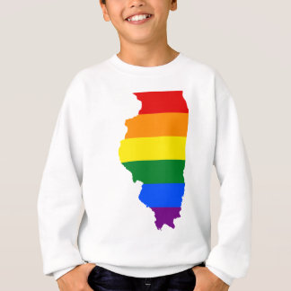 Illinois LGBT Flag Map Sweatshirt