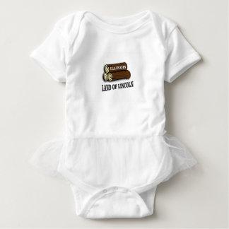 Illinois logs of Lincoln Baby Bodysuit