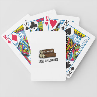 Illinois logs of Lincoln Bicycle Playing Cards
